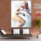 Big Fish Music Pop Actress Singer Miley Cyrus Huge Giant Print Poster