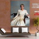 British Kingdom Diana Princess Of Wales Huge Giant Print Poster