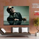 Ray Charles Music Pianist Jazz Blues Huge Giant Print Poster