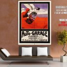 Auto Garage Gronier Roisan Huge Giant Print Poster
