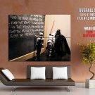 Dart Vader Star Wars Stormtrooper HUGE GIANT Print POSTER