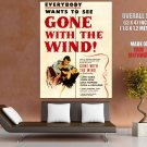 Gone With The Wind Painting Art Retro Movie HUGE GIANT Print Poster