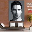 Adam Levine Hot Portrait Pop Music Singer BW HUGE GIANT Print Poster