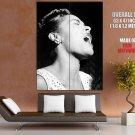 Billie Holiday Jazz Blues Music Singer BW HUGE GIANT Print Poster