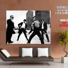 Blondie Punk Rock Band Music Group Bw Huge Giant Print Poster