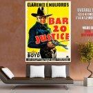 Bar 20 Justice William Boyd Movie Vintage HUGE GIANT Print Poster