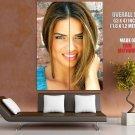 Adriana Lima Cute Smile Lips Portrait Model HUGE GIANT Print Poster