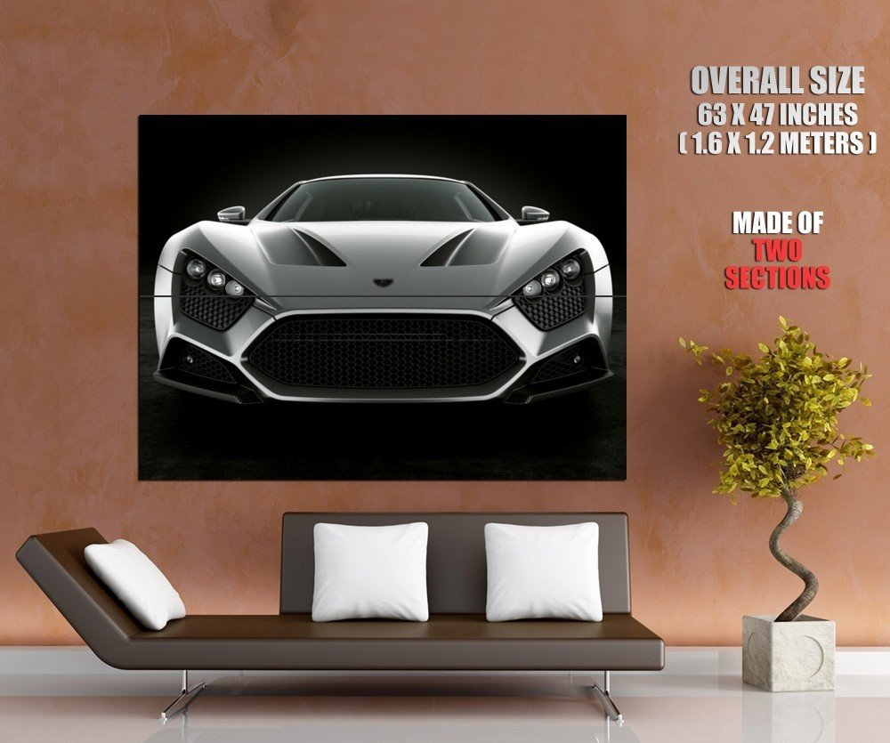 Zenvo St1 Grey Car Huge Giant Print Poster