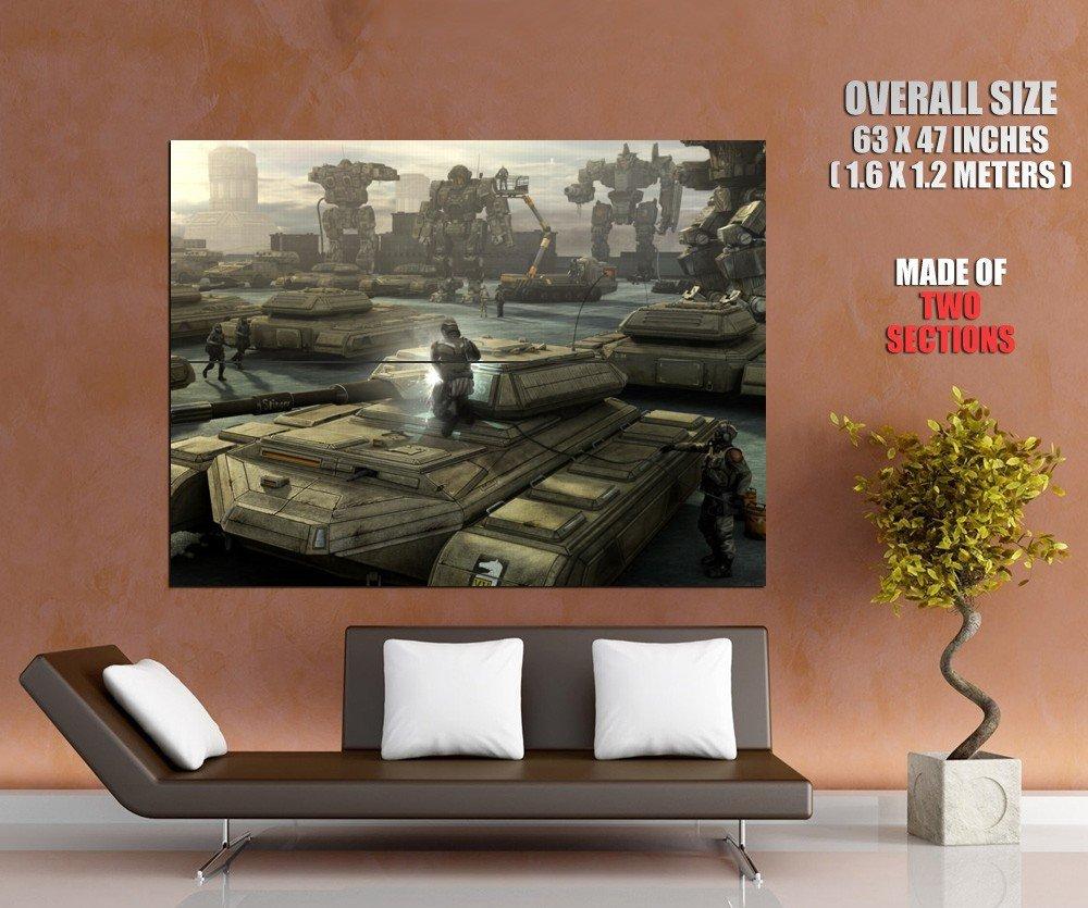 Mechwarrior Online Battletech Tanks HUGE GIANT Print Poster