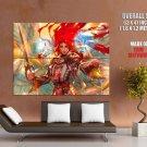 Archangel Warrior Sword Fantasy Artwork HUGE GIANT Print Poster