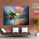 Fantasy Unicorn Sea Artwork HUGE GIANT Print Poster
