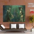 Hot Mermaids Underwater Fantasy Artwork HUGE GIANT Print Poster