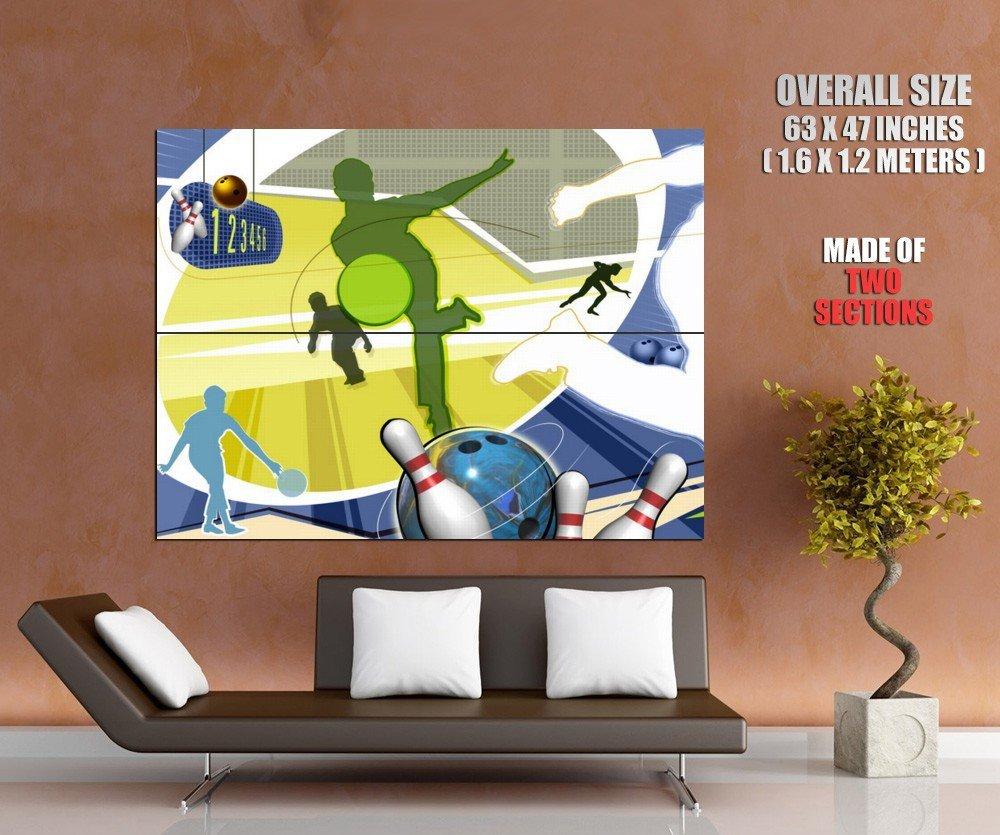 Bowling Art Sport Huge Giant Print Poster