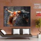 Breakdance Hot Girl Sport Huge Giant Print Poster
