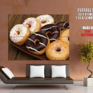 Donuts Cool Macro Food Huge Giant Print Poster