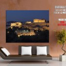 Acropolis Of Athens Night Lights HUGE GIANT Print Poster