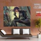 Cyberpunk Anime Girls Art Huge Giant Print Poster