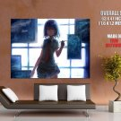 Anime Girl Paiting Drawing Art HUGE GIANT Print Poster