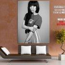 Carly Rae Jepsen Singer Music Bw Huge Giant Print Poster