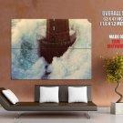 Lighthouse Sea Surge Wave Amazing HUGE GIANT Print Poster