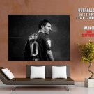 Lionel Messi Fc Barcelona Bw Huge Giant Print Poster