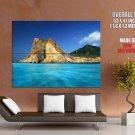 Beautiful Sea Landscape Rock HUGE GIANT Print Poster