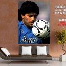Diego Maradona Napoli Football HUGE GIANT Print Poster