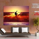 Sunshine Surfing Sea Wave Huge Giant Print Poster