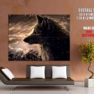 Amazing Wolf Artwork Scars Snow HUGE GIANT Print Poster