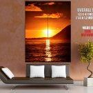 Beautiful Sunset Sea Nature HUGE GIANT Print Poster