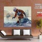 Star Wars Hoth At At Art Huge Giant Print Poster