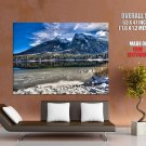 Beautiful Mountain Landscape Nature HUGE GIANT Print Poster
