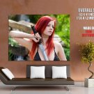 Ariel Piper Fawn Hot Redhead Model HUGE GIANT Print Poster