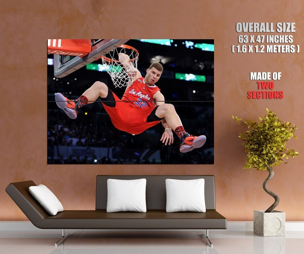 Blake Griffin Slam Dunk Contest Elbow Nba Huge Giant Print Poster