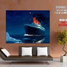 Titanic Night Iceberg History Art HUGE GIANT Print Poster