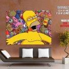 Homer Simpson Drunk Beer Art Huge Giant Print Poster