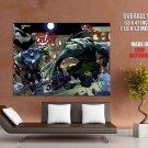 Comic Art Wolverine Vs Captain America HUGE GIANT Print Poster