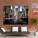 Chicago Illinois Usa Cityscape Huge Giant Print Poster