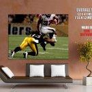 Troy Polamalu Pittsburgh Steelers Sport HUGE GIANT Print Poster