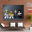 Queen Band Freddie Mercury Lego Music HUGE GIANT Print Poster