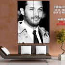Tom Hardy Bw Beard Movie Actor Huge Giant Print Poster