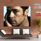 Brad Pitt Portrait Movie Actor HUGE GIANT Print Poster