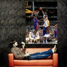 Ben Wallace Block Shaquille O Neal NBA Huge 47x35 Print POSTER