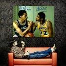 Magic Johnson George Gervin NBA Huge 47x35 Print POSTER