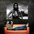 Adriana Lima Hot Model Sexy BW Huge 47x35 Print POSTER