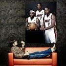 Big 3 Wade Bosh James Miami Heat NBA Huge 47x35 Print POSTER