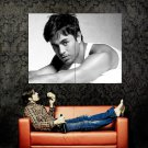 Enrique Iglesias Hot Singer Music BW Huge 47x35 Print POSTER