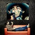 Bob Dylan Harmonica Portrait Art Music Huge 47x35 Print POSTER
