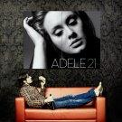 Adele 21 Cover Singer Music Huge 47x35 Print POSTER