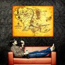 Map Of Middle Earth Lord Of The Rings Huge 47x35 Print POSTER